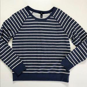 Gap Denim Blue and white striped Sweatshirt